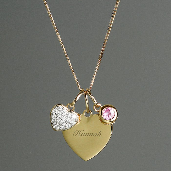 Sterling Silver & 9ct Gold Heart Necklace