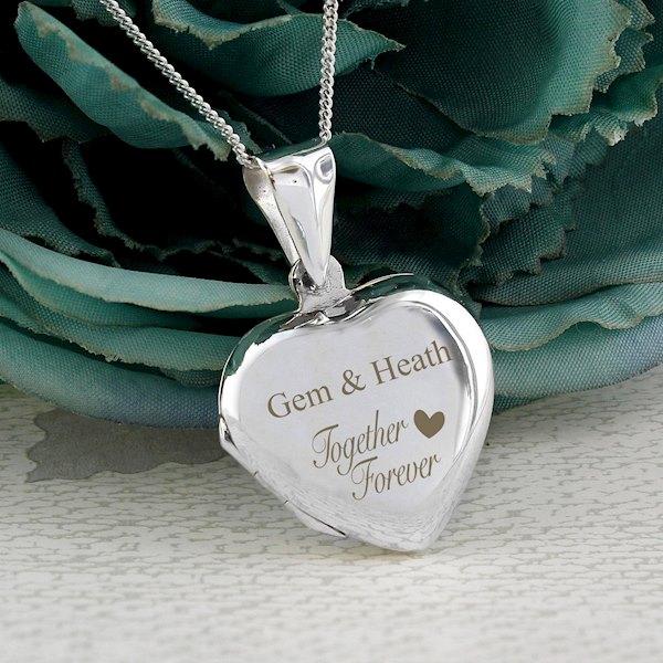 Sterling Silver 'Together Forever' Heart Locket