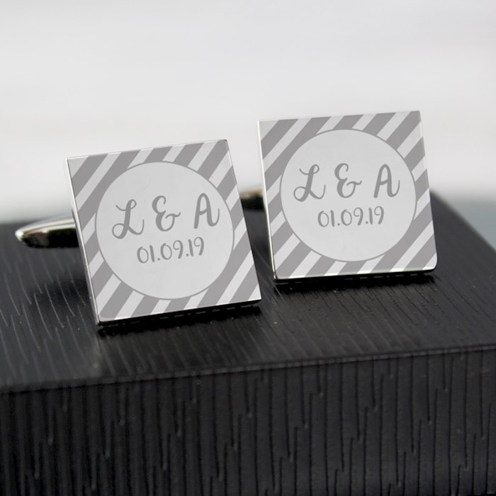 Stripes Square Cufflinks