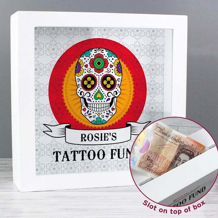 Sugar Skull Tattoo Fund and Keepsake Box