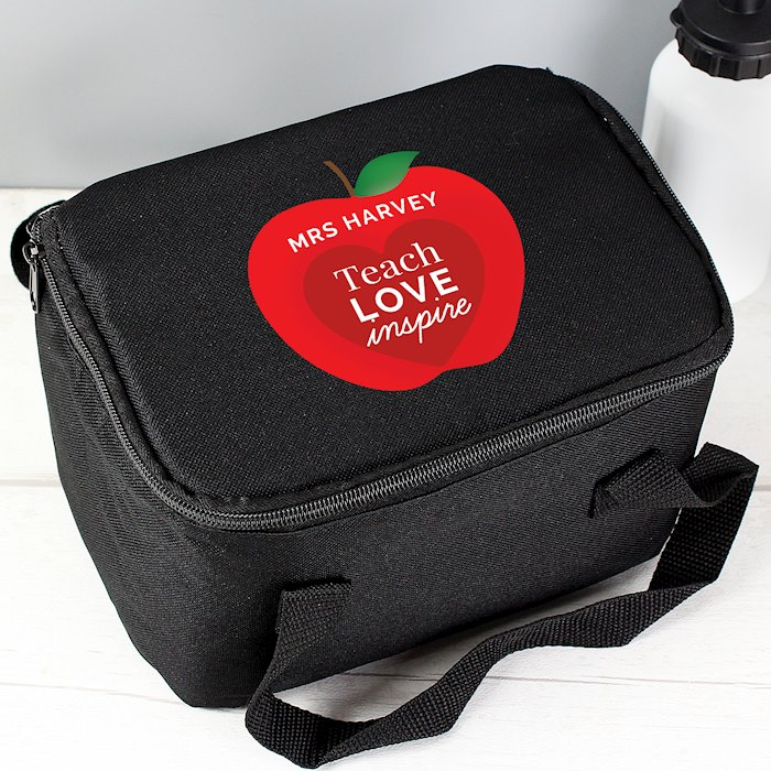 Teachers 'Apple' Black Lunch Bag