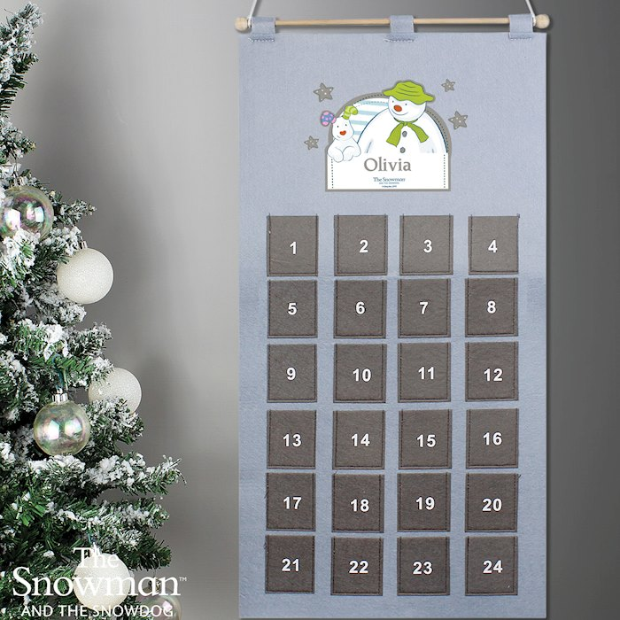 The Snowman Advent Calendar In Silver Grey