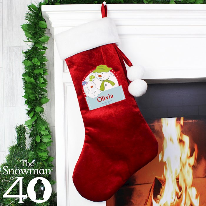 Luxury Christmas Stockings Uk.The Snowman And The Snowdog Luxury Stocking