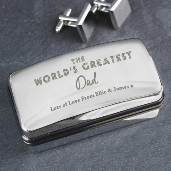 'The World's Greatest' Cufflink Box