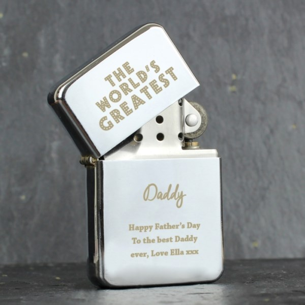 'The World's Greatest' Silver Lighter
