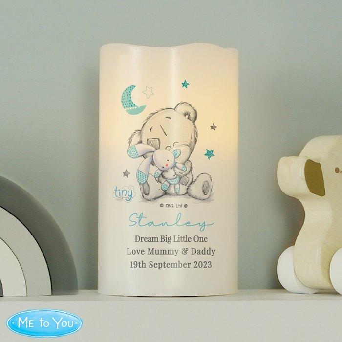 Tiny Tatty Teddy Dream Big Blue Nightlight LED Candle