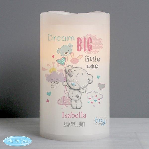 Tiny Tatty Teddy Dream Big Pink Nightlight LED Candle