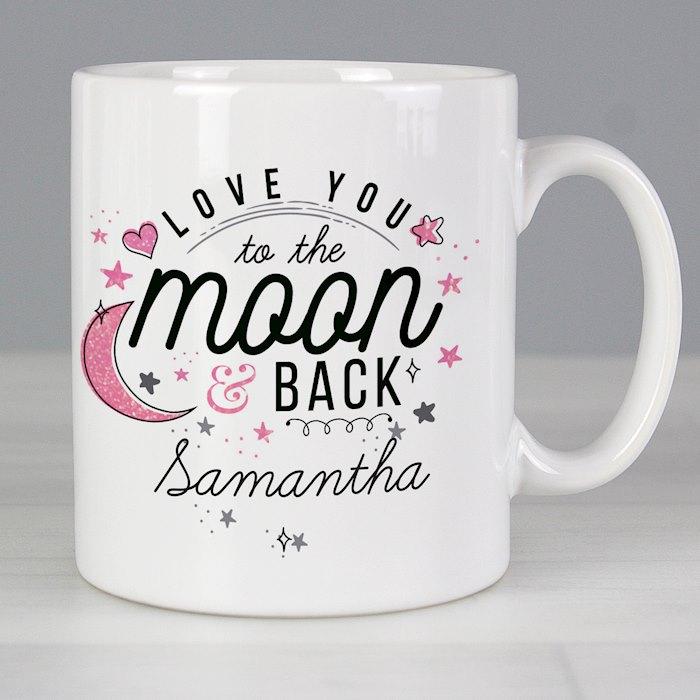 To The Moon & Back Pink Mug