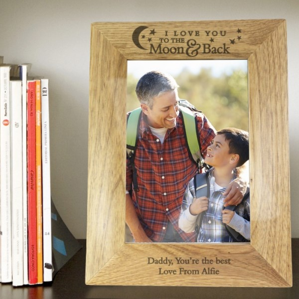 To the Moon and Back... 5x7 Wooden Photo Frame