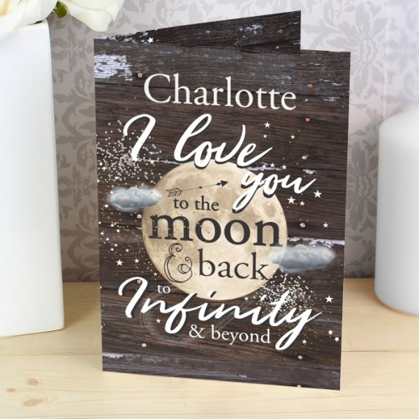 To the Moon & Infinity... Card