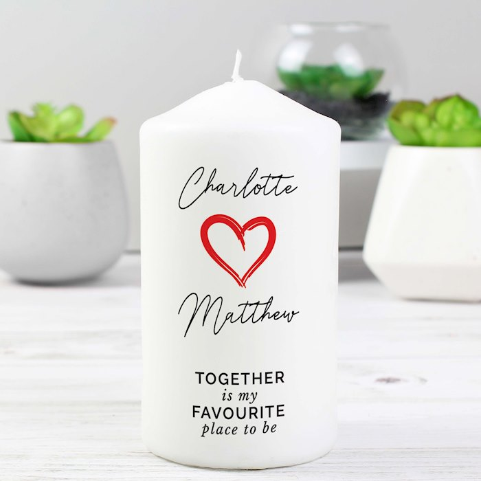 Together Is My Favorite Place Pillar Candle