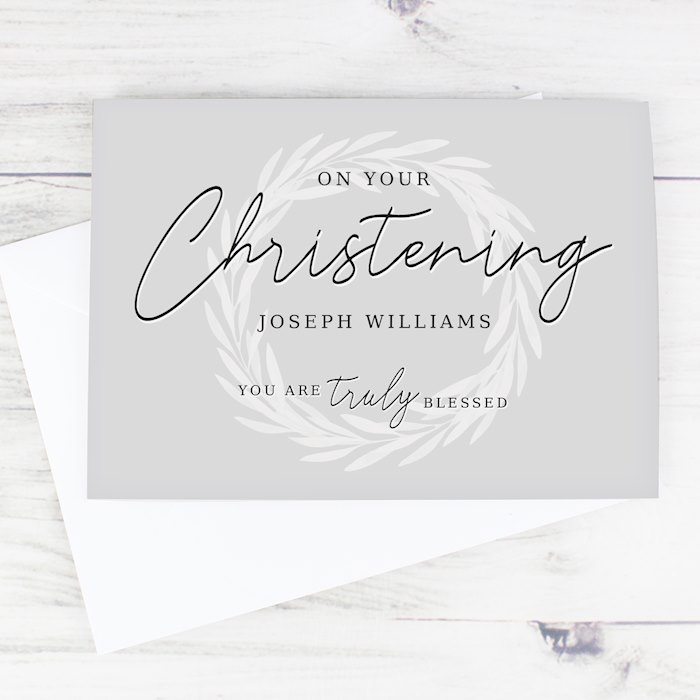 'Truly Blessed' Christening Card