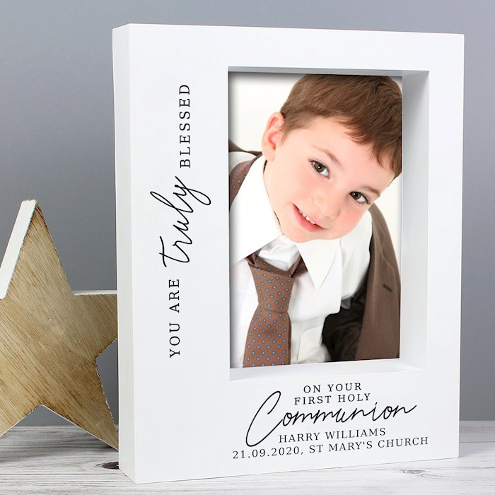'Truly Blessed' First Holy Communion 7x5 Box Photo Frame