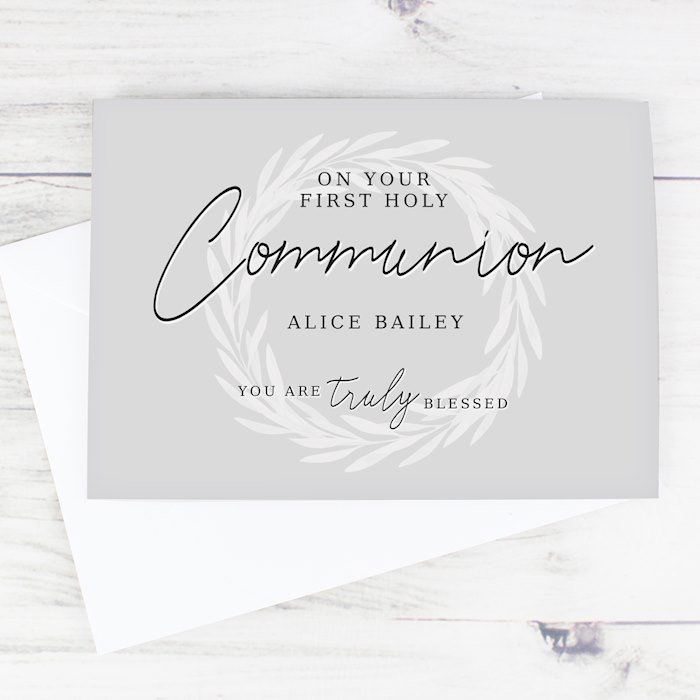 Truly Blessed First Holy Communion Card