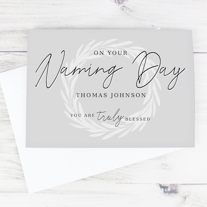 Truly Blessed Naming Day Card