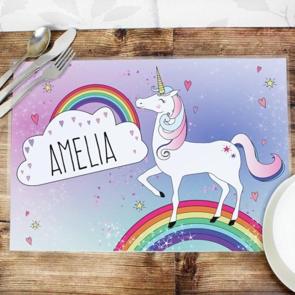 Unicorn Laminated Print Placemat