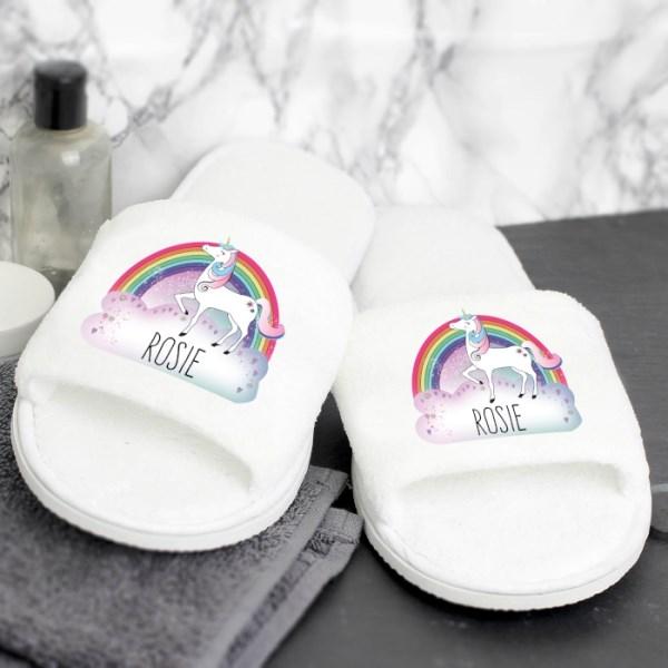 Unicorn Velour Slippers