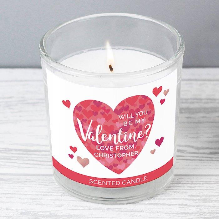 Valentine's Day Confetti Hearts Scented Jar Candle