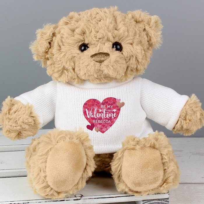 Valentine's Day Confetti Hearts Teddy