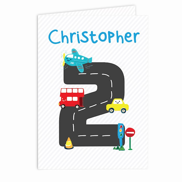 Vehicles Birthday Card