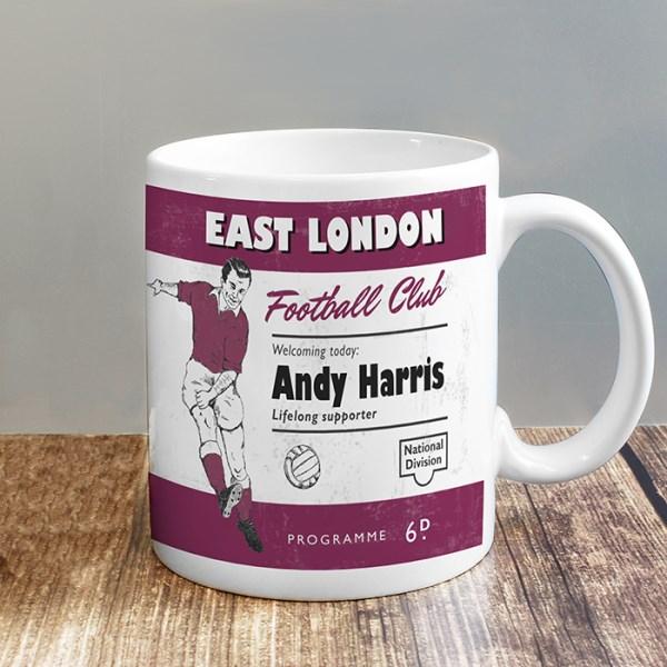 Vintage Football Claret Supporter's Mug