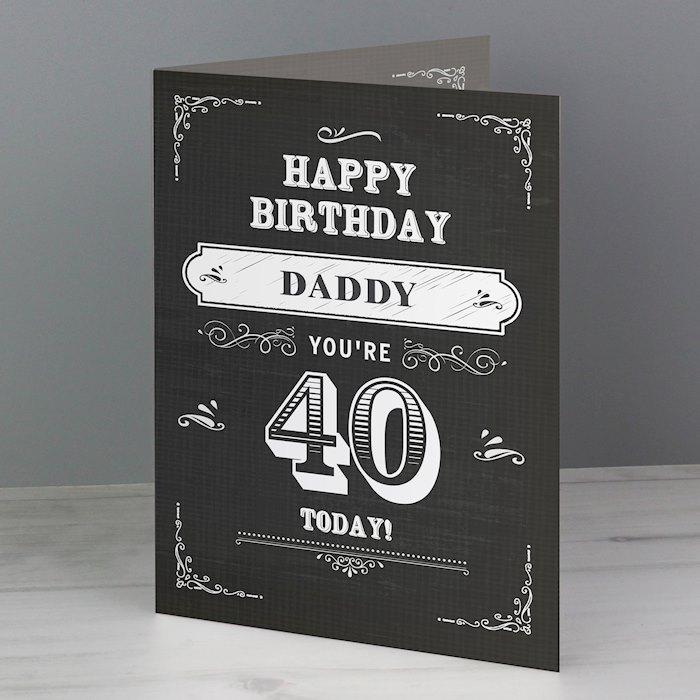Vintage Typography Birthday Card
