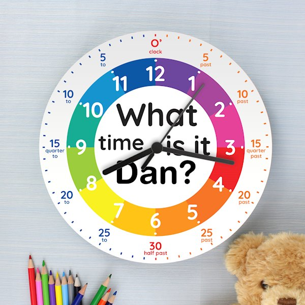 'What time is it?' Wooden Clock
