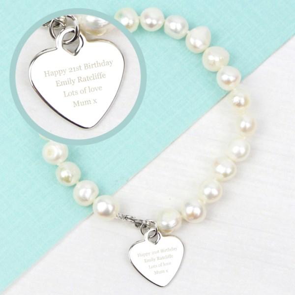 White Freshwater Pearl Message Bracelet