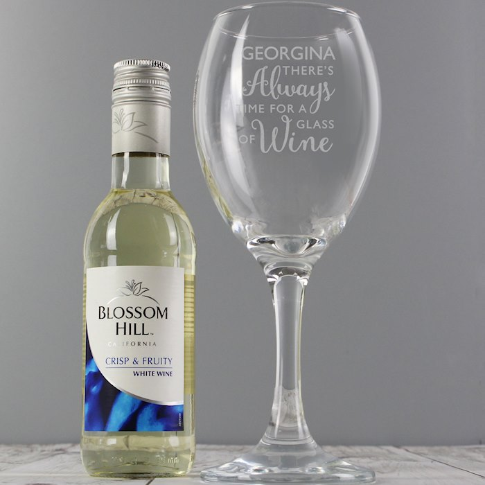 White Wine & 'Always Time for Wine' Glass Set