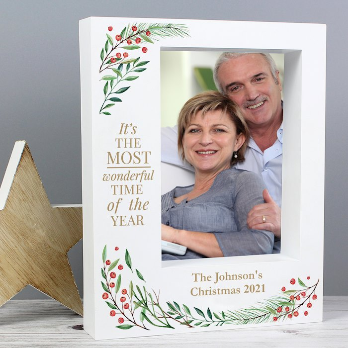 'Wonderful Time of The Year Christmas' 7x5 Box Photo Frame