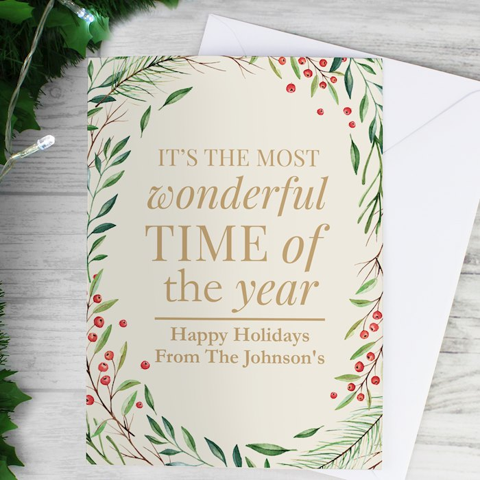Wonderful Time of The Year Christmas Card