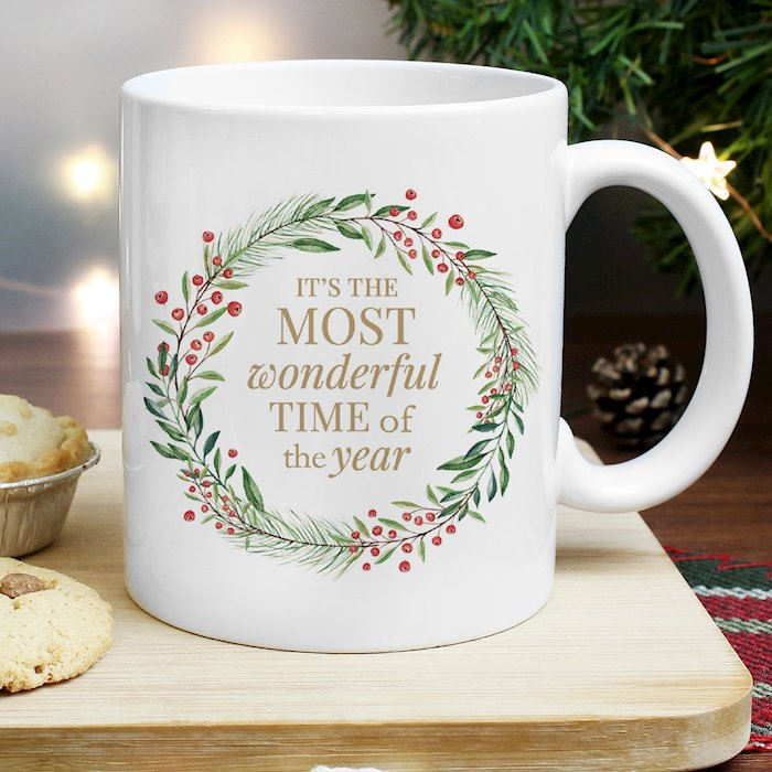 'Wonderful Time of The Year' Christmas Mug