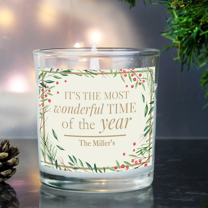 'Wonderful Time of The Year' Christmas Scented Jar Candle