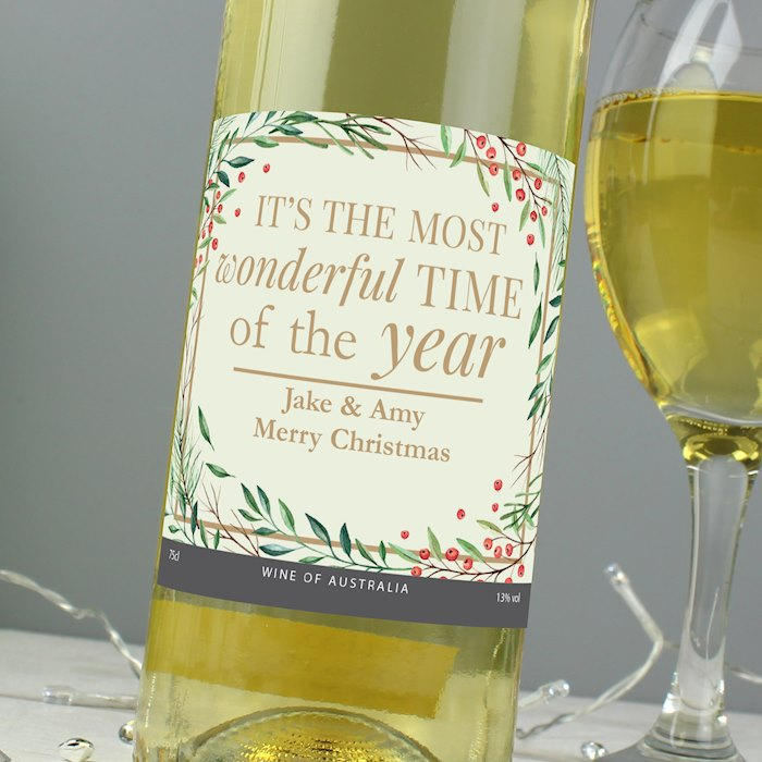'Wonderful Time of The Year' Christmas White Wine