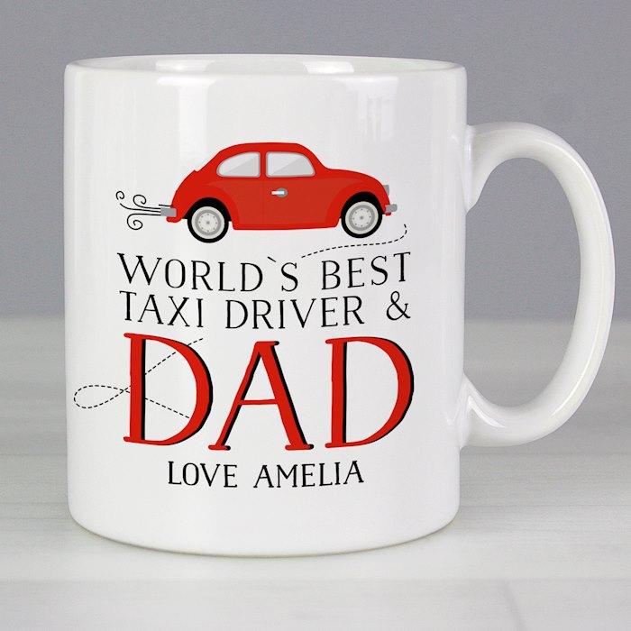 Worlds Best Taxi Driver Dad Mug