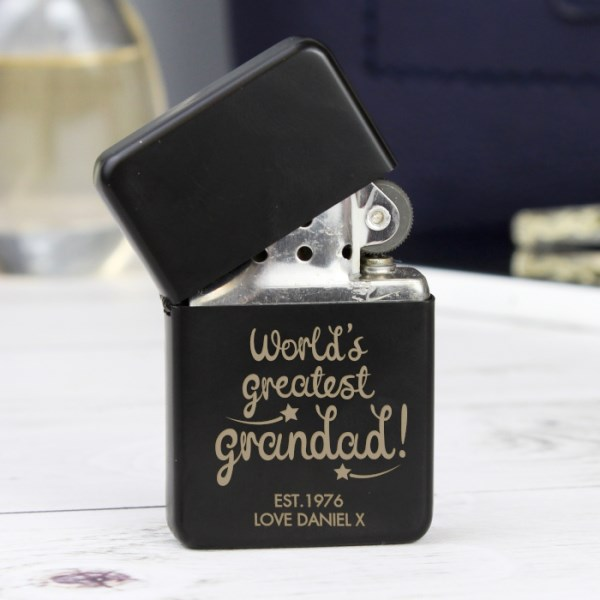 'World's Greatest Grandad' Black Lighter