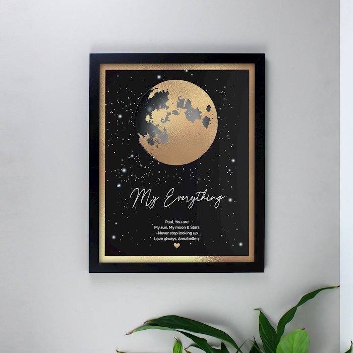 You Are My Sun My Moon Black Framed Print