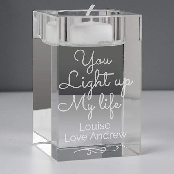 You Light Up My Life Glass Tea Light Holder