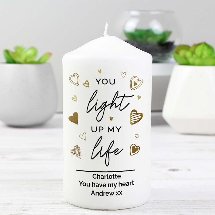 You Light Up My Life Pillar Candle