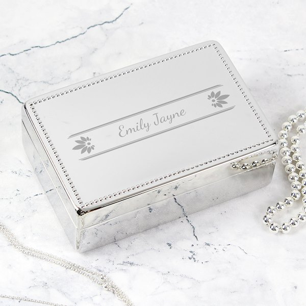 Petals Rectangular Jewellery Box