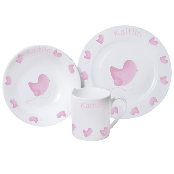 Pink Chick Breakfast Set