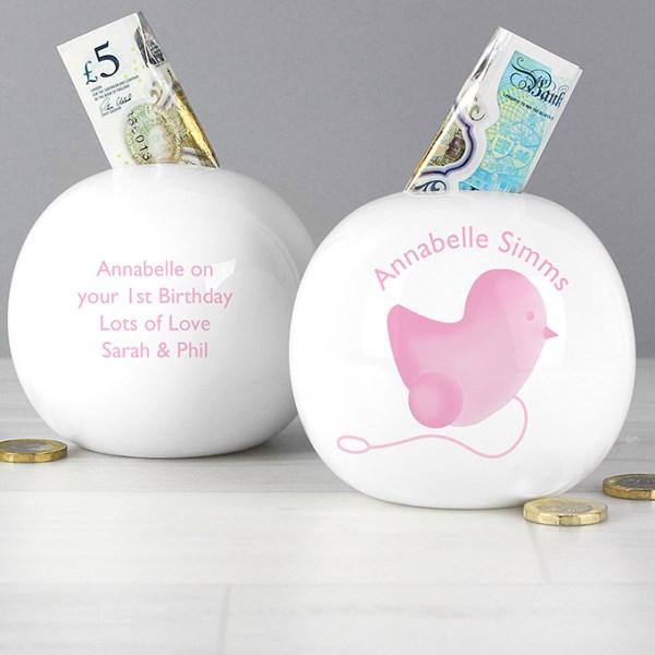 Pink Chick Money Box