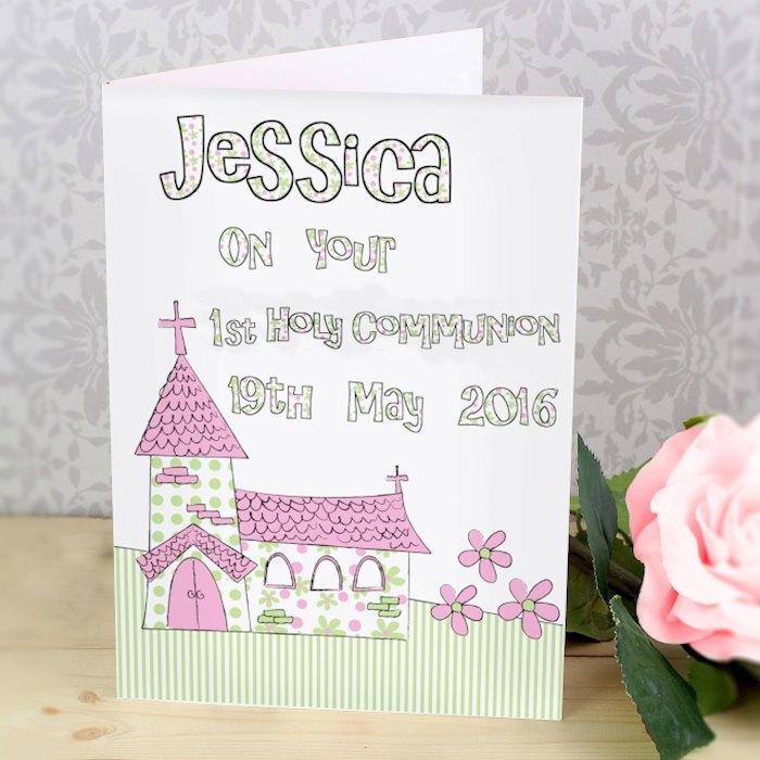 Pink Church Card