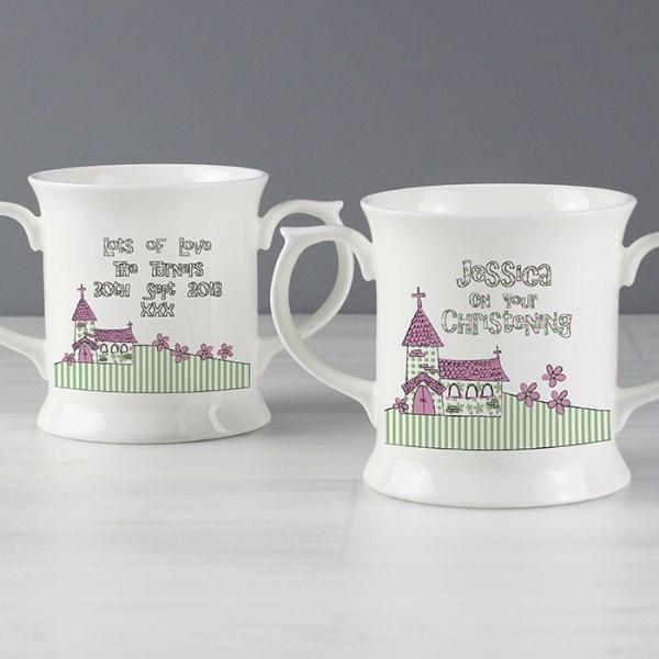 Pink Church Loving Mug