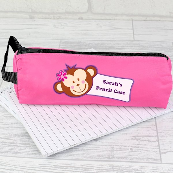 Monkey Pink Pencil Case