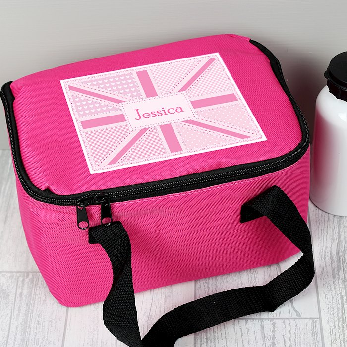 Pink Patchwork Union Jack Lunch Bag