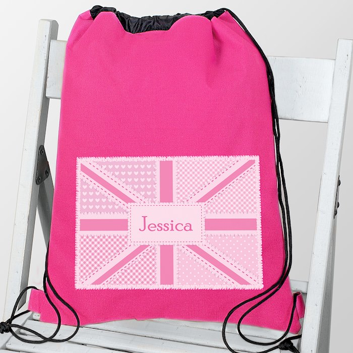 Pink Patchwork Union Jack Swim & Kit Bag