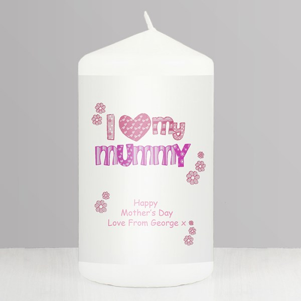 Pink Patterns 'I Love My' Candle