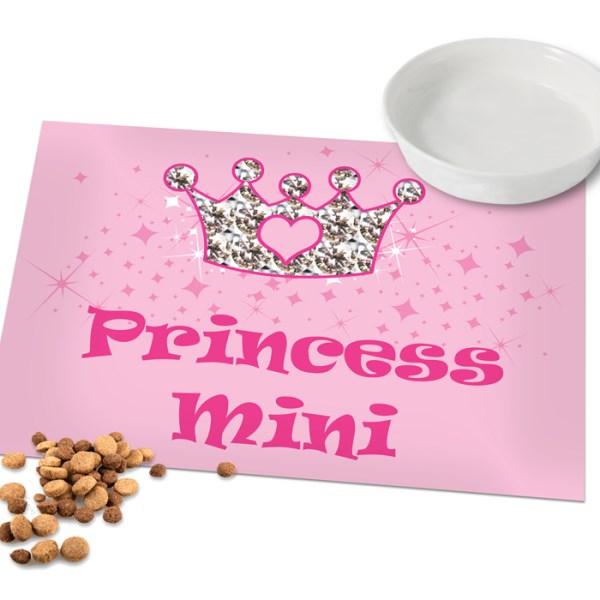 Pink Princess Pet Laminated Print Placemat