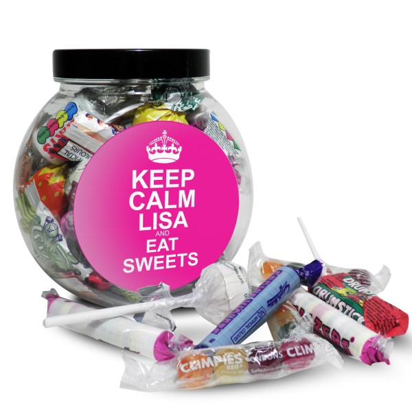 Pink Round Keep Calm Sweet Jar